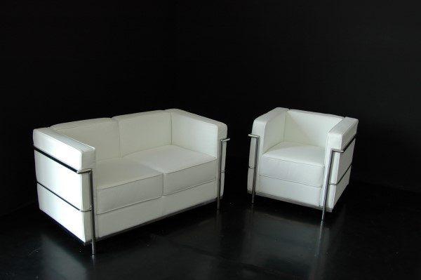 POLTRONA e DIVANO Le Corbusier Bianco